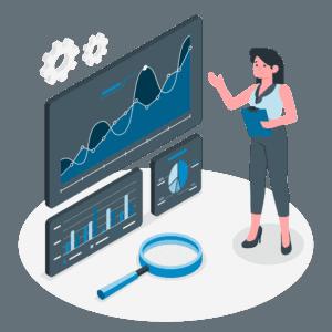 female analyst monitoring HANA database performance